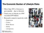 the economic burden of lifestyle risks
