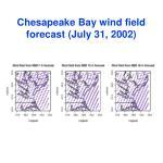 chesapeake bay wind field forecast july 31 2002