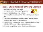 task 1 characteristics of young learners