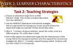 task 2 teaching strategies