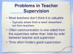 problems in teacher supervision