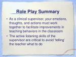 role play summary