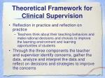 theoretical framework for clinical supervision