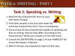 task 1 speaking vs writing