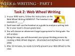 task 2 web wheel writing