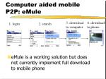 computer aided mobile p2p emule