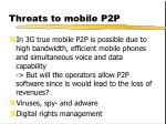 threats to mobile p2p