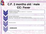 c f 2 months old male cc fever2
