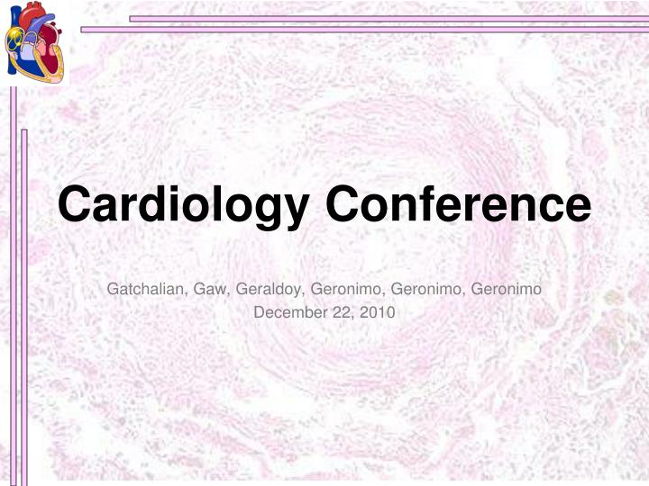cardiology conference n.
