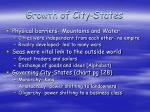 growth of city states
