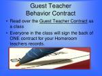 guest teacher behavior contract