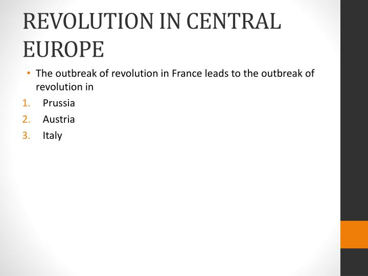 revolution in central europe n.