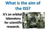 what is the aim of the iss