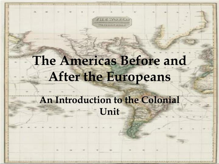 the americas before and after the europeans n.