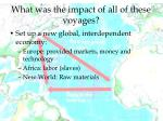 what was the impact of all of these voyages