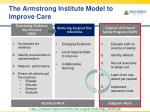 the armstrong institute model to improve care