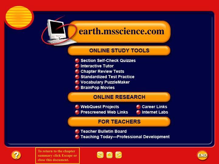 Earth.msscience.com