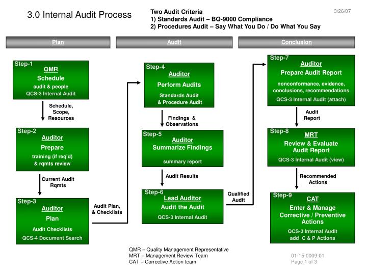 3 0 internal audit process n.