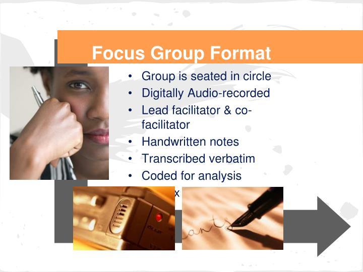 Focus Group Format