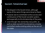 soviet totalitarian
