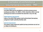 examples of nonfunctional requirements in the mhc pms