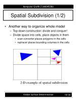 spatial subdivision 1 2