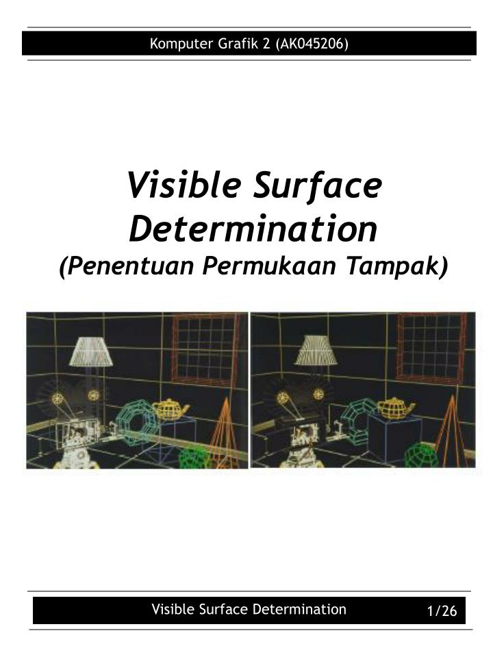 visible surface determination penentuan permukaan tampak n.