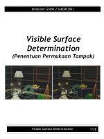 visible surface determination penentuan permukaan tampak