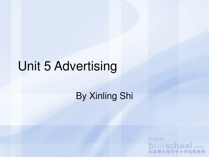 unit 5 advertising n.