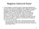 negative liberty power