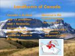 landforms of canada