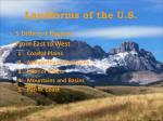 landforms of the u s