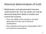 historical determination of truth
