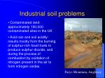 industrial soil problems