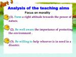 analysis of the teaching aims1
