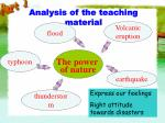 analysis of the teaching material