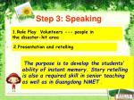 step 3 speaking