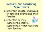 reasons for sponsoring sem events2