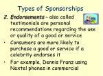 types of sponsorships1