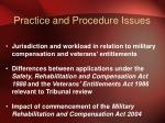 practice and procedure issues