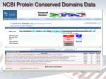 ncbi protein conserved domains data