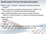 student projects find more information about protein