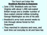 the french and indian war braddock marches to duquesne