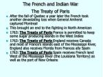 the french and indian war the treaty of paris