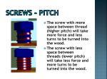 screws pitch
