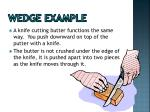 wedge example