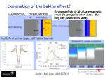 explanation of the baking effect