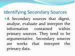 identifying secondary sources