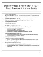 bretton woods system 1944 1971 fixed rates with narrow bands