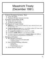 maastricht treaty december 1991